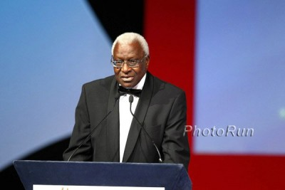 Diack at the World Athletics Gala in 2010