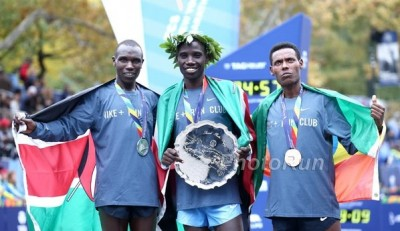 Biwott (middle) and Desisa (right) both made Graham's top 10
