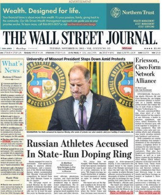 This story is getting major traction as it's on the front page of the Wall Street Journal