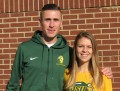 Coach Andrew Carlson and student-athlete Erin Teschuk of North Dakota State in advance of the 2015 NCAA Division I Cross Country Championships in Louisville, Kentucky (photo by David Monti for Race Results Weekly)