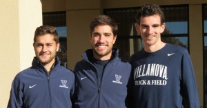 Jordy Williamsz, Rob Denault and Patrick Tiernan of Villanova University in advance of the 2015 NCAA Division I Cross Country Championships (Photo by David Monti for Race Results Weekly)