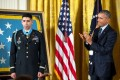 Photo of Capt. Flo Groberg and President Obama from White House Twitter