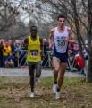 Patrick Tiernan (r) battling Edward Cheserek at NCAAs last year