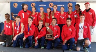 The boys and girls of Great Oak after sweeping the California Division I state meet last weekend.