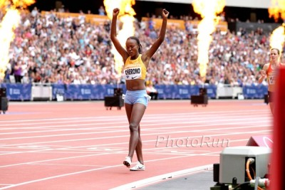 Cherono won in London but couldn't repeat her medal-winning performance in Beijing