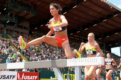 Garcia pushed the pace at USAs and was rewarded with a pb and a runner-up finish
