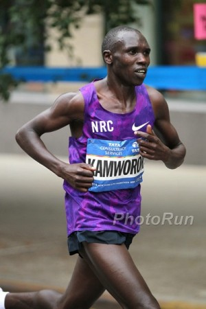 Kamworor finished an impressive 2nd in New York just two months after earning silver in the 10,000 at the World Championships