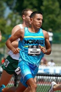 Manzano made his sevehth straight U.S. outdoor team in 2015