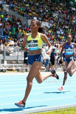 Wilson got off to a good start in 2015, but a stress reaction meant she couldn't race after USAs
