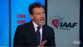A bearded Seb Coe is grilled in a recent interview with CNN's Amanda Davies.