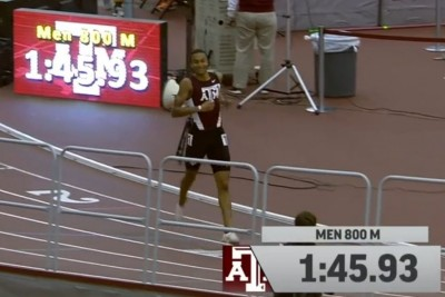Donavan Brazier after his 1:45.93.