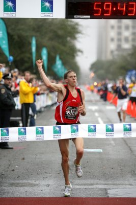 Ryan Hall found out he was a long distance guy after this glorius race