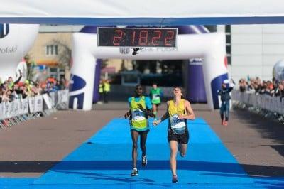 Zablocki finishing the Poznan Marathon in