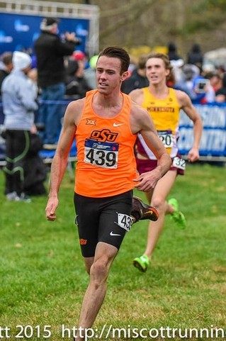 Thompson at NCAA XC last fall photo by Michael Scott