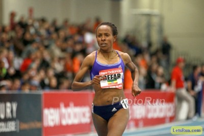 Defar ran well in her return to the track in Boston, but is she strong enough to challenge Dibaba?