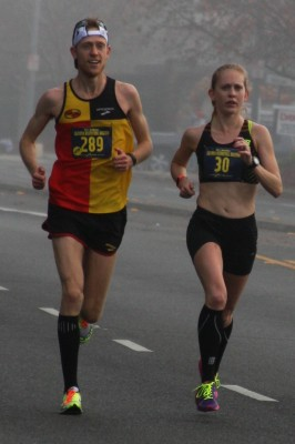 Brendan Gregg and Kaitlin Gregg Goodman running the 2014 California International Marathon (photo by Carolee Gregg, used with permission)