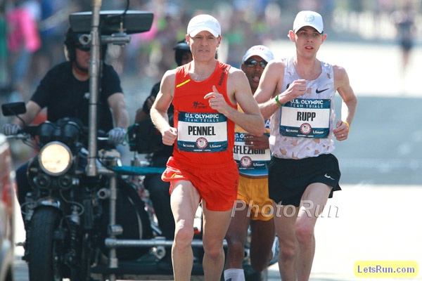 Tyler Pennel Leads the Olympic Marathon Trials
