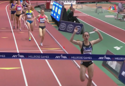 Rowbury crushed the Millrose field in 2016