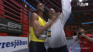 Souleiman and coach Jama Aden Celebreate World Record #1 Yesterday