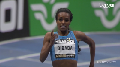 Dibaba broke a world record in Stockholm for the third year in a row
