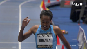 Genzebe Dibaba Leans for Mile Indoor World Record