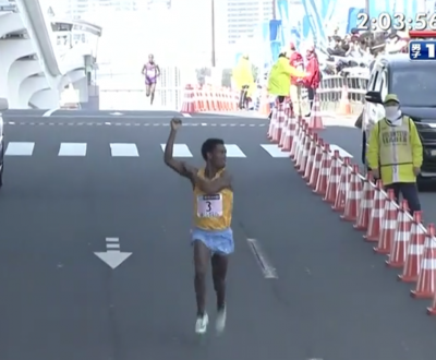 Lilesa started showboating over a kilometer out from the finish line