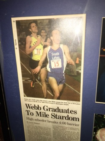 When Webb broke 4:00 for the first time,