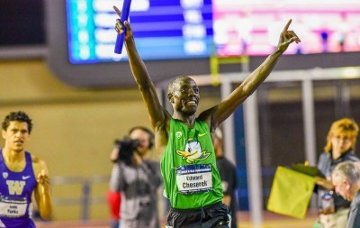 Cheserek anchoring the Oregon DMR to victory in 2016