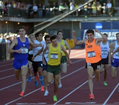 Haney came .16 away from an NCAA title as a true freshman last year. Photo by Image of Sport.