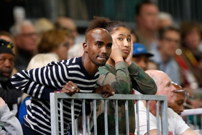 Mo Farah was on hand to watch Centro (Photo by Christian Petersen/Getty Images for IAAF)""