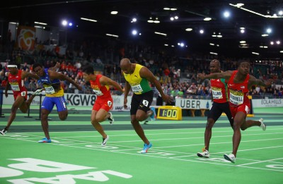 Finish of Men's 60 (Photo by Ian Walton/Getty Images for IAAF)""