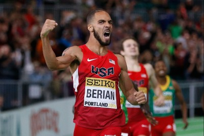 Berian won World Indoors in Nike (because all Team USA members where Nike) © Getty Images for IAAF