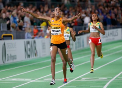 Hassan was golden (Photo by Christian Petersen/Getty Images for IAAF)""