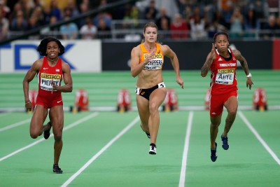 """Women's 60m Final (Photo by Christian Petersen/Getty Images for IAAF)"""""""