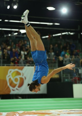 """A proper celebration by Tamberi (Photo by Ian Walton/Getty Images for IAAF)"""""""