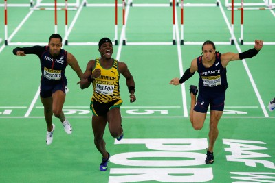 """Omar McLeod Wins (Photo by Christian Petersen/Getty Images for IAAF)"""""""