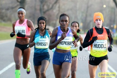 Chepkirui in action at last year's NYC Half