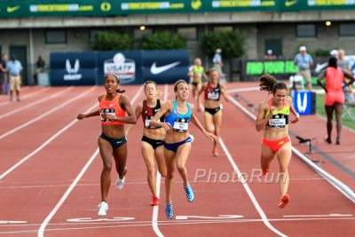 Hall, Infeld and D'Agostino (along with Nicole Tully) battled in the 5k last year at USA Outdoors