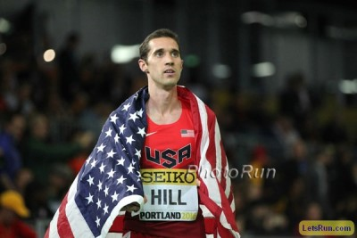 Hill after medalling two years ago in Portland