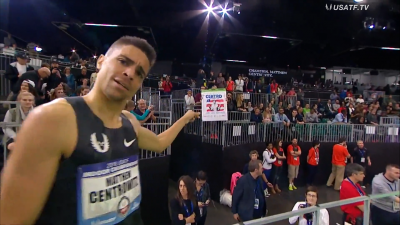 Centrowitz always knows how to play to the crowd