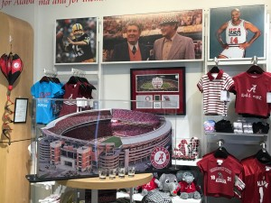 The U of Alabama isn't the host (Samford is) but Alabama dominates at the airport