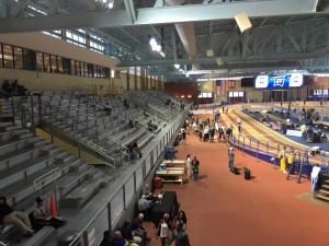 The stands and the track