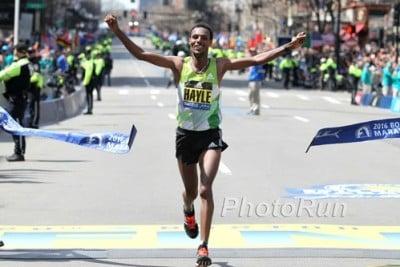 Berhanu winning Boston last year