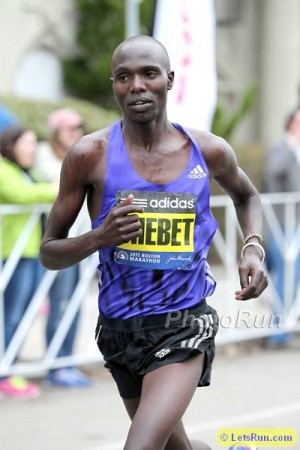 Chebet en route to a third-place finish in 2015