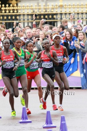 Midway through the 2012 Olympic marathon, the lead pack was an all-East African affair