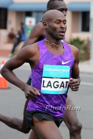 Lagat will run the first track 10,000 of his career on Sunday