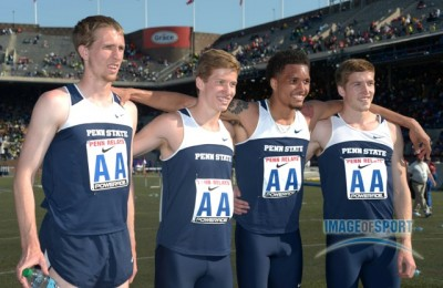 Creese (far left) and Kidder (second from left) at Penn in 2013