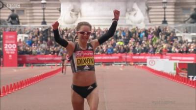 Alyson Dixon celebrates her Olympic selection