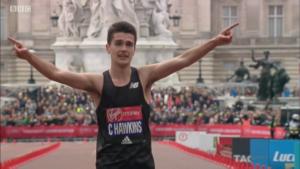 Hawkins at London Marathon this year