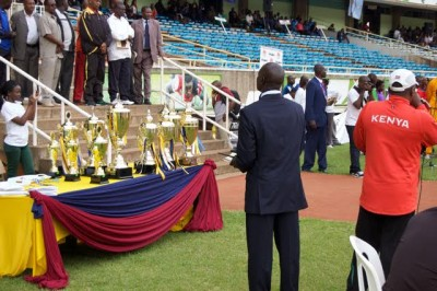The prizes on offer at the 2016 Kenyan Police Championships in Nairobi